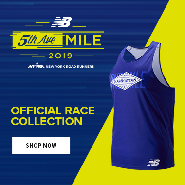 New Balance official 5th Avenue Mile race collection ad