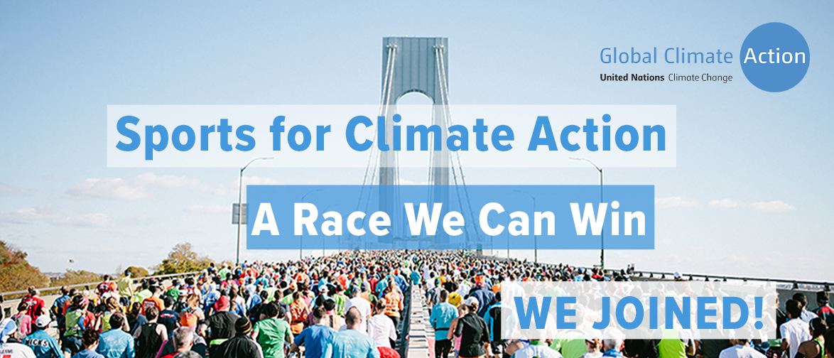 UNFCCC's Sports for Climate Action initiative banner