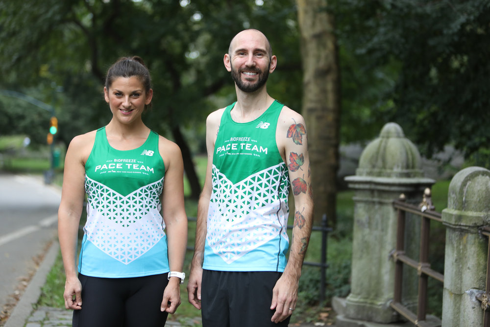 Coaches wearing the Pace team singlets by Bio Freeze