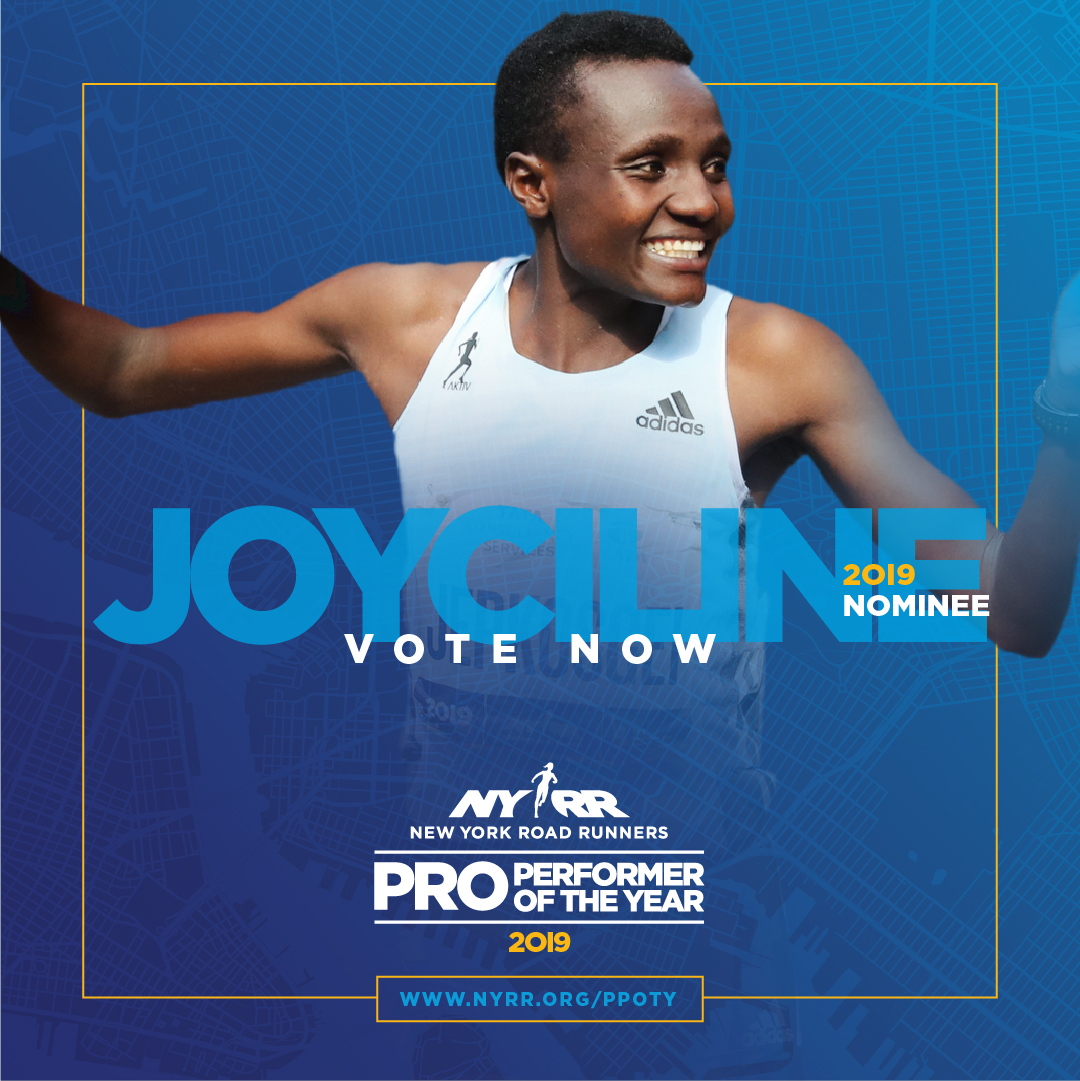 2019 NYRR Pro Performer of the Year graphic for Joyciline Jepkosgei