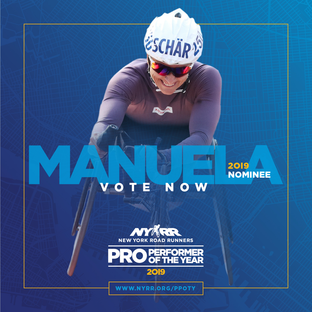 2019 NYRR Pro Performer of the Year graphic for Manuela Schär
