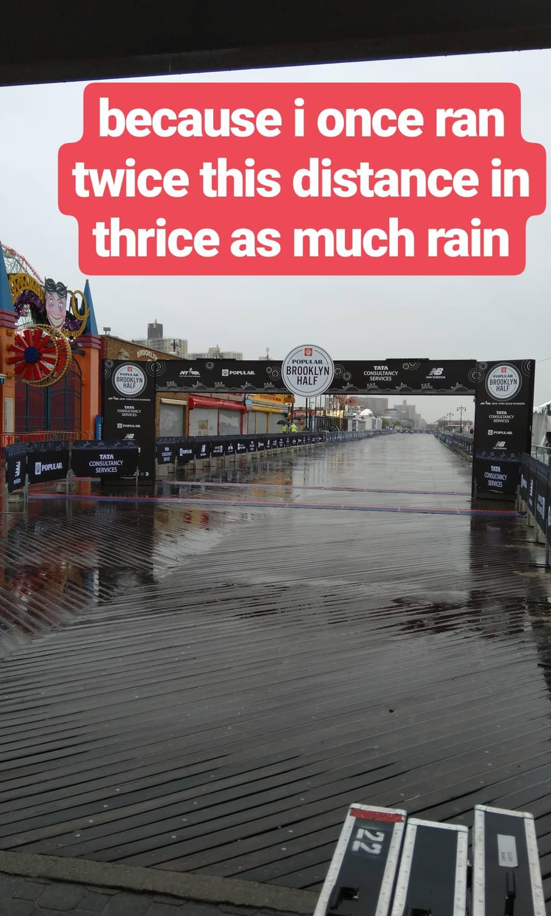 Photo from an Instagram story at the finish of the 2018 Popular® Brooklyn Half