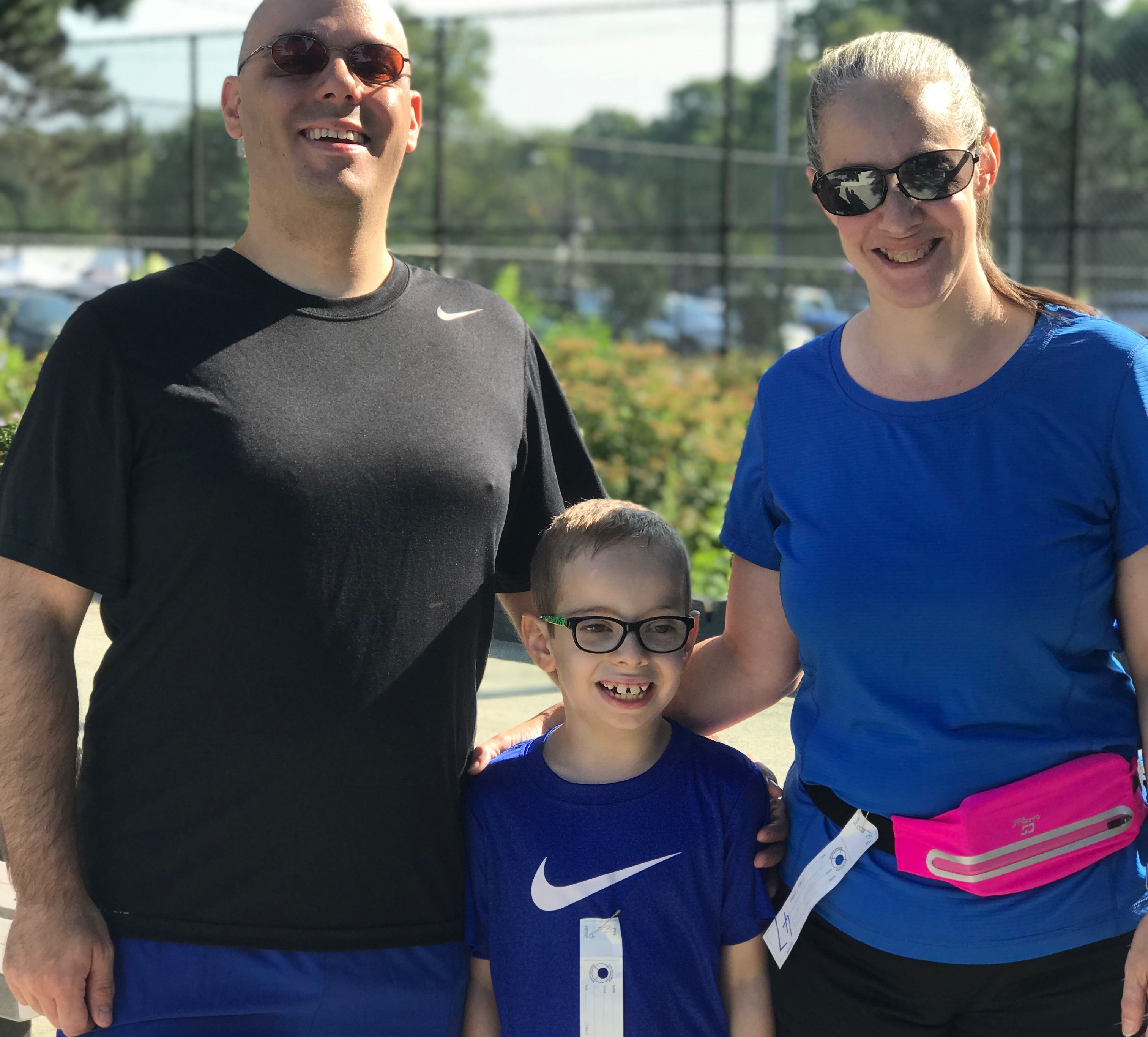 George Caggiano, center, with mom, Stacy, and dad, Steve.
