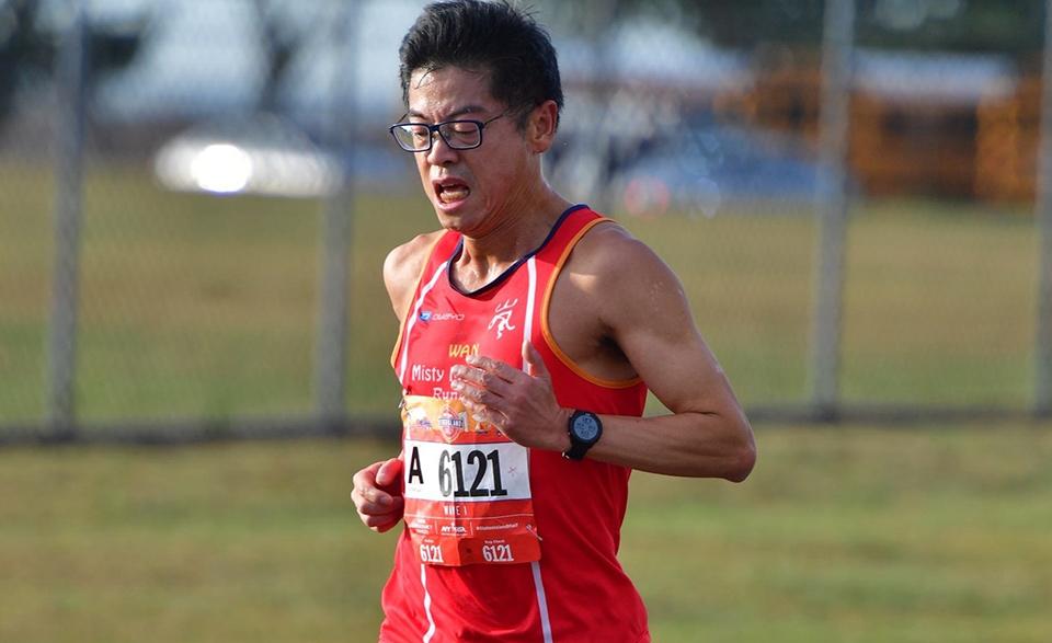 David Yan of Misty Mountain Runners at the 2019 NYRR Staten Island Half