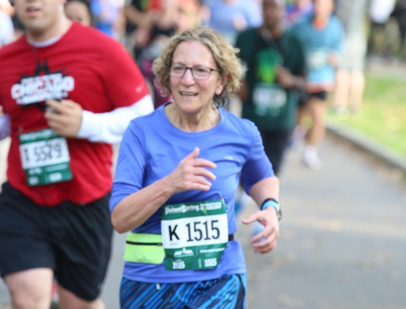 Millrose Running club member Mary Spera