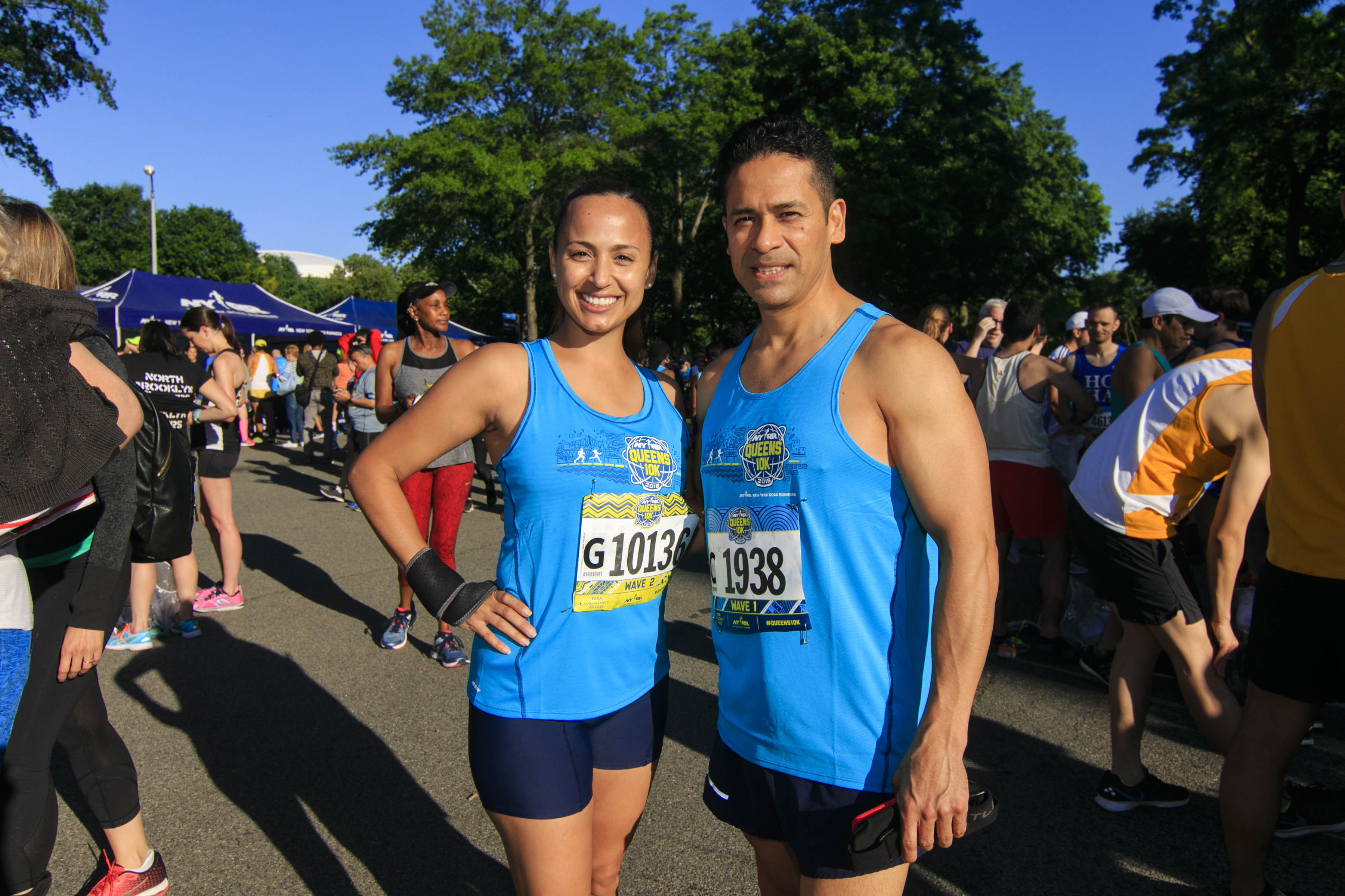Runners at the NYRR Queens 10K