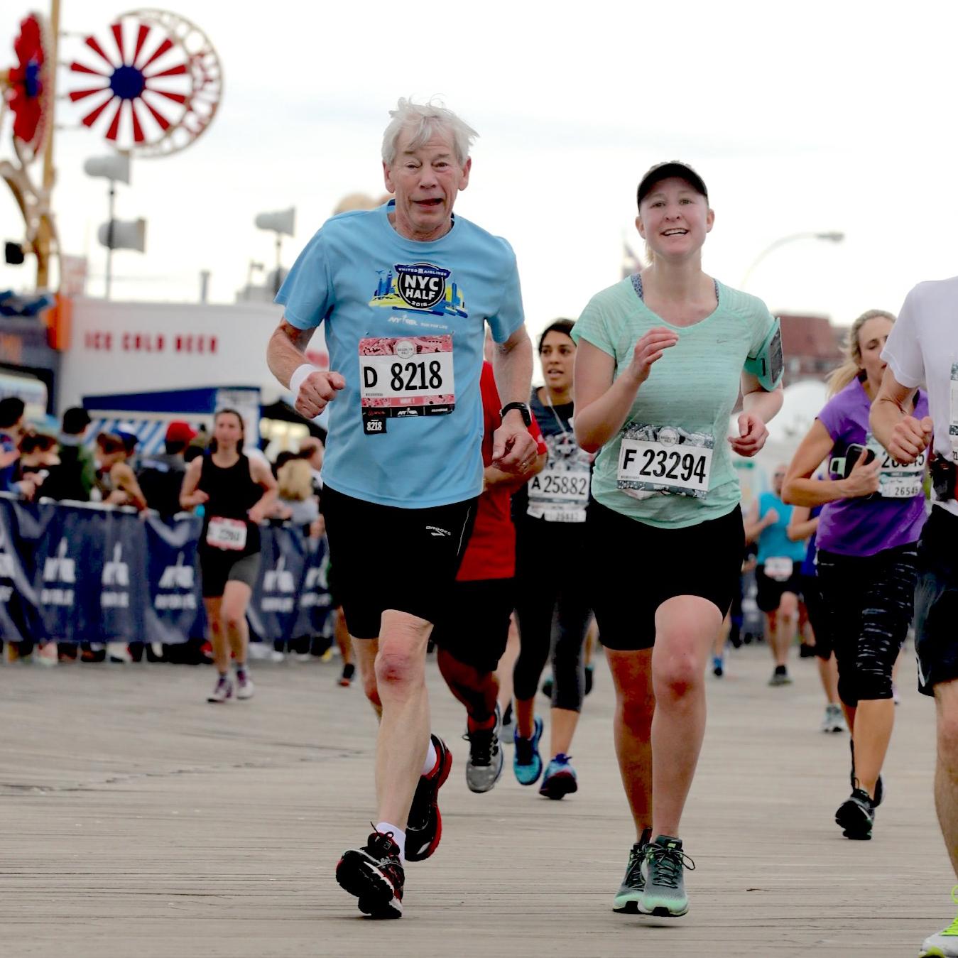 Runners on the Coney Island Boardwalk at the Brooklyn Half