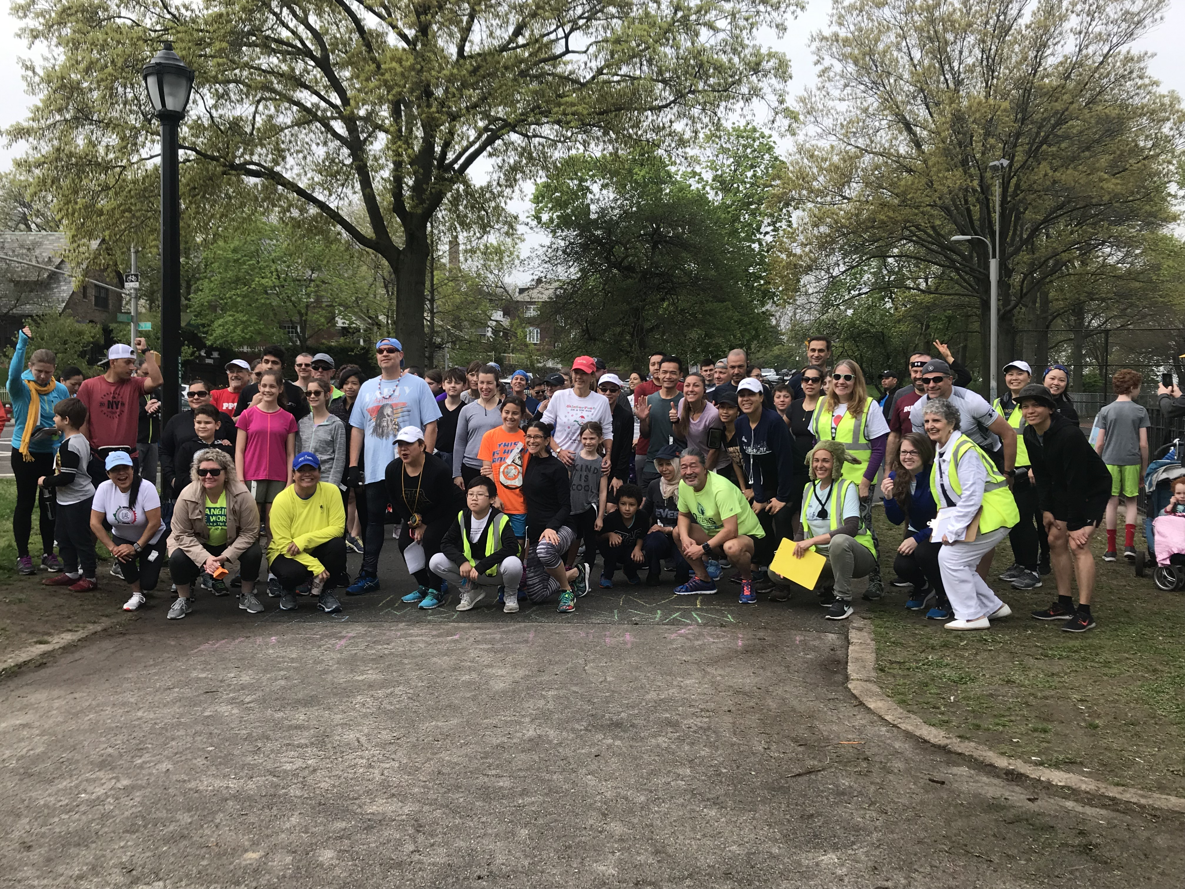 Shore Road Park Open Run group