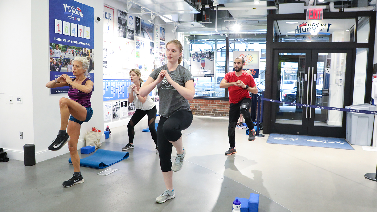 A HIIT class the NYRR Run Center