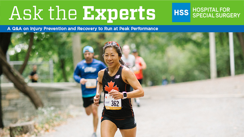 HSS Ask the Experts banner with woman runner