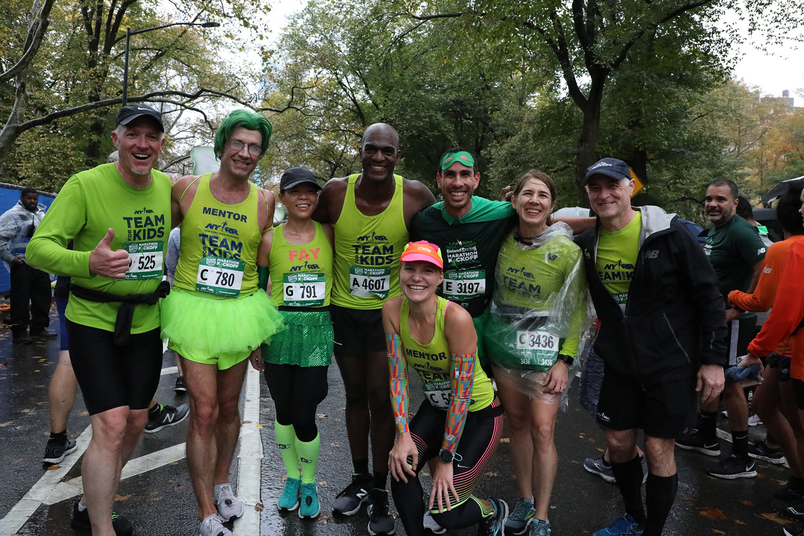 Team for Kids runners at the Poland Spring 5M finish line