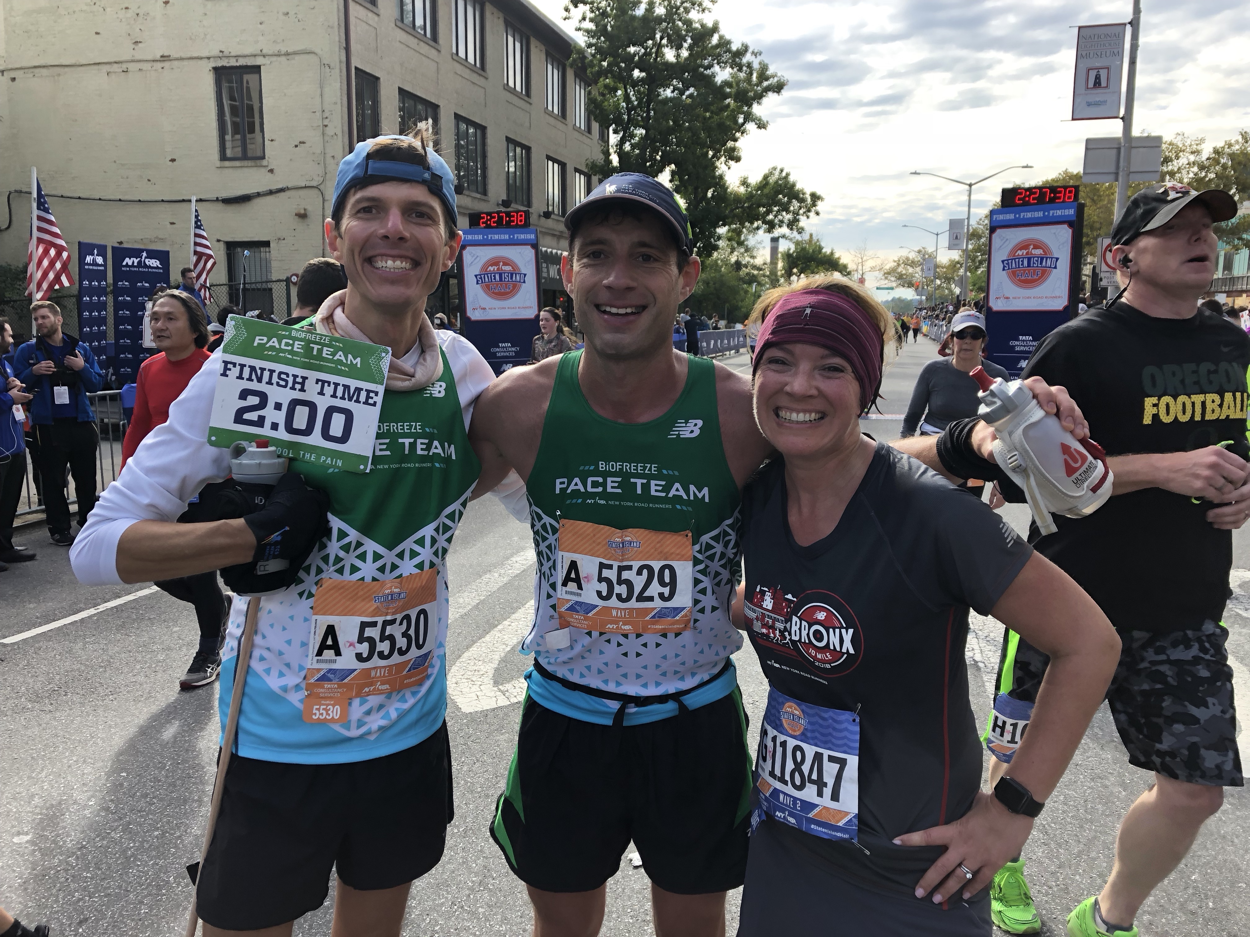 Biofreeze pace team at the Staten Island Half