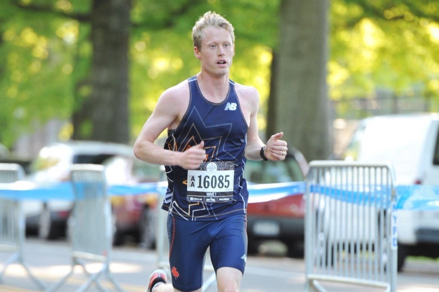 Matt Rand running the 2019 Popular Brooklyn Half