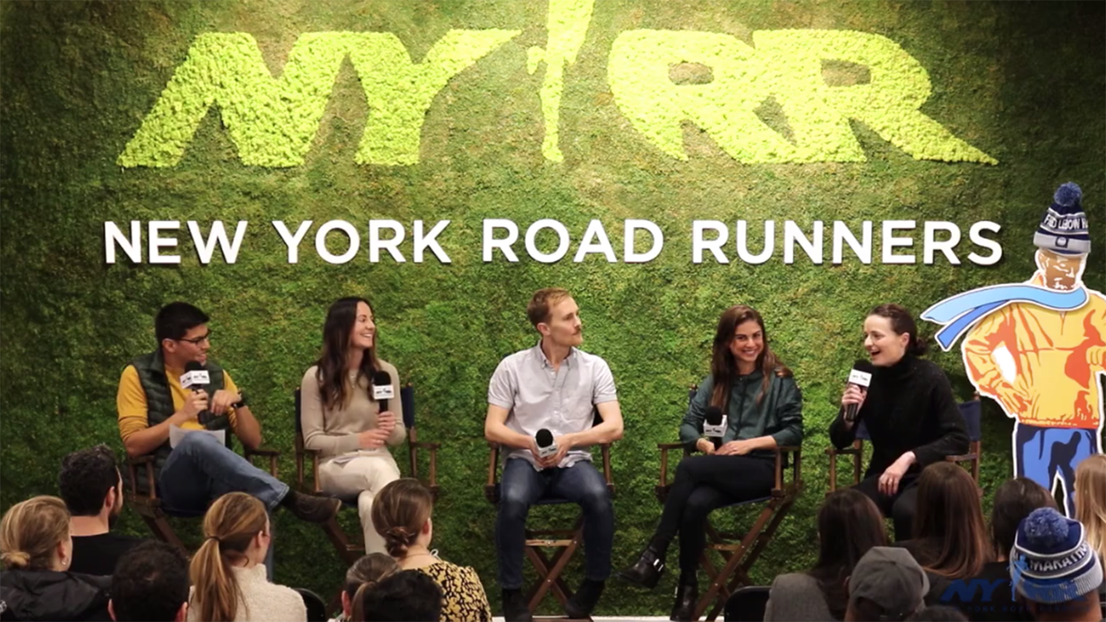 A live recording of the podcast Runners of NYC at the NYRR Run Center