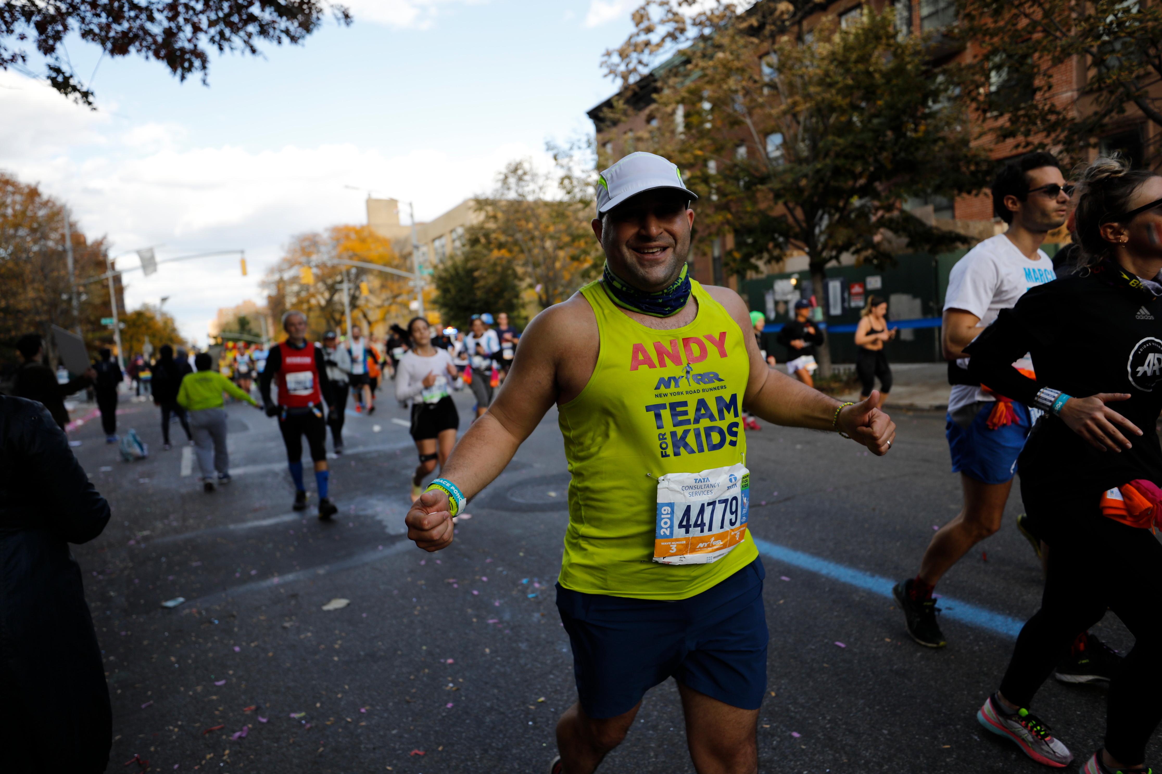 NYRR Team for Kids runner in 2019 TCS New York City Marathon