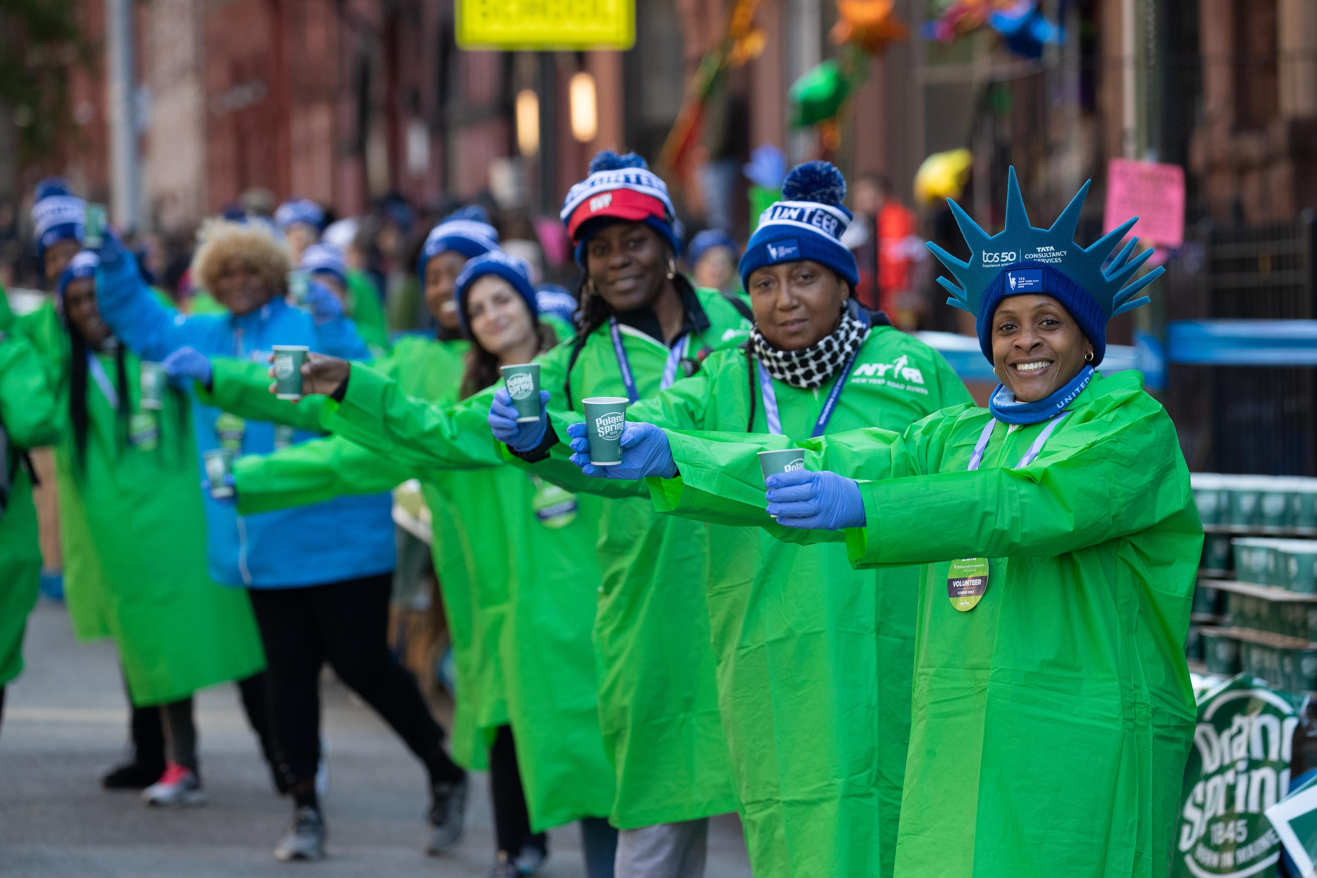 TCS New York City Marathon volunteers