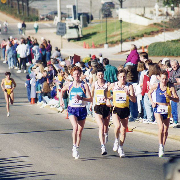 Gordon Bakoulis and other competitors at 1996 US Women's Olympic Marathon Trials
