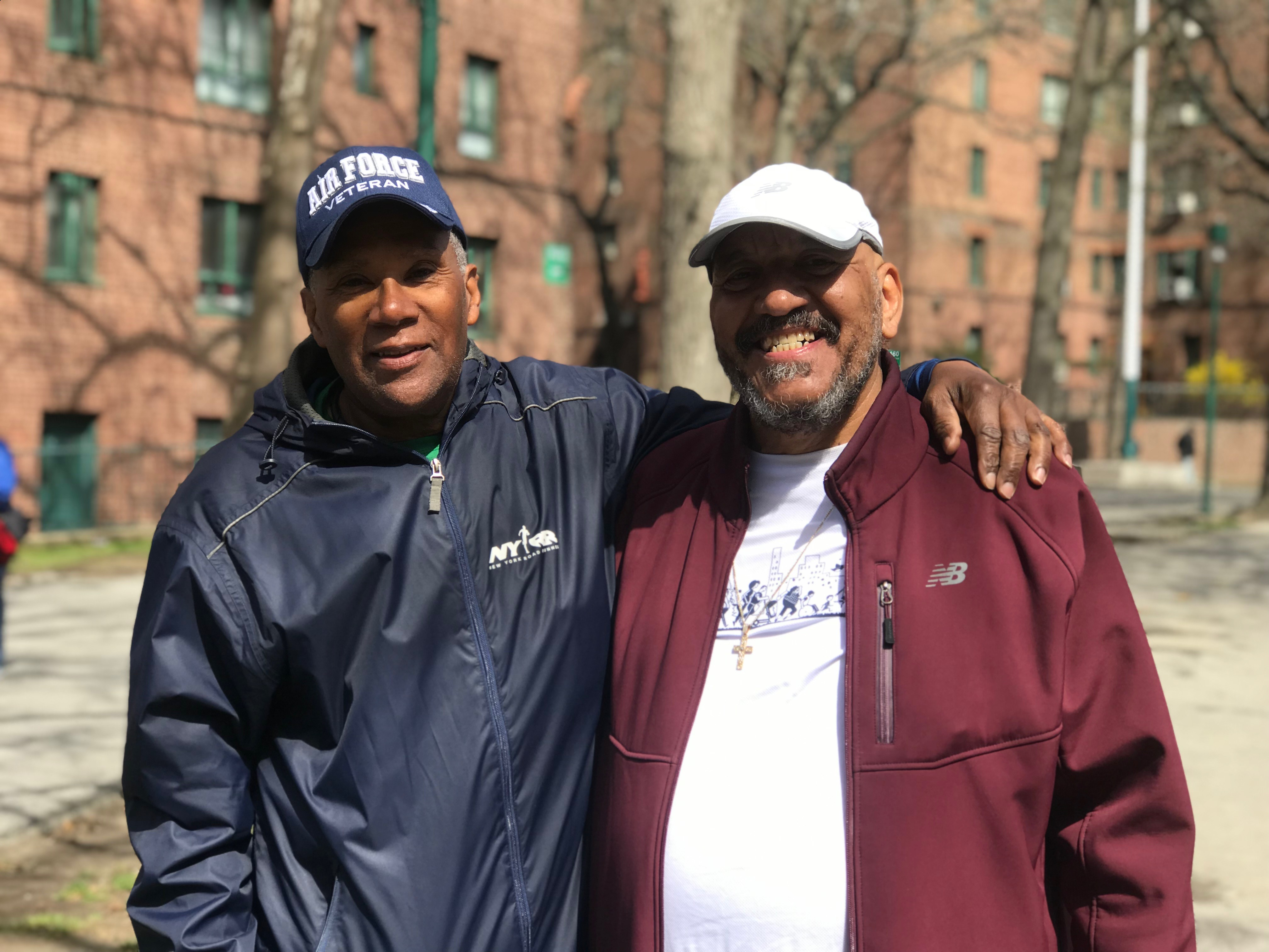 Juan Gonzalez with Mitchell Strong, Parkchester Striders coach.