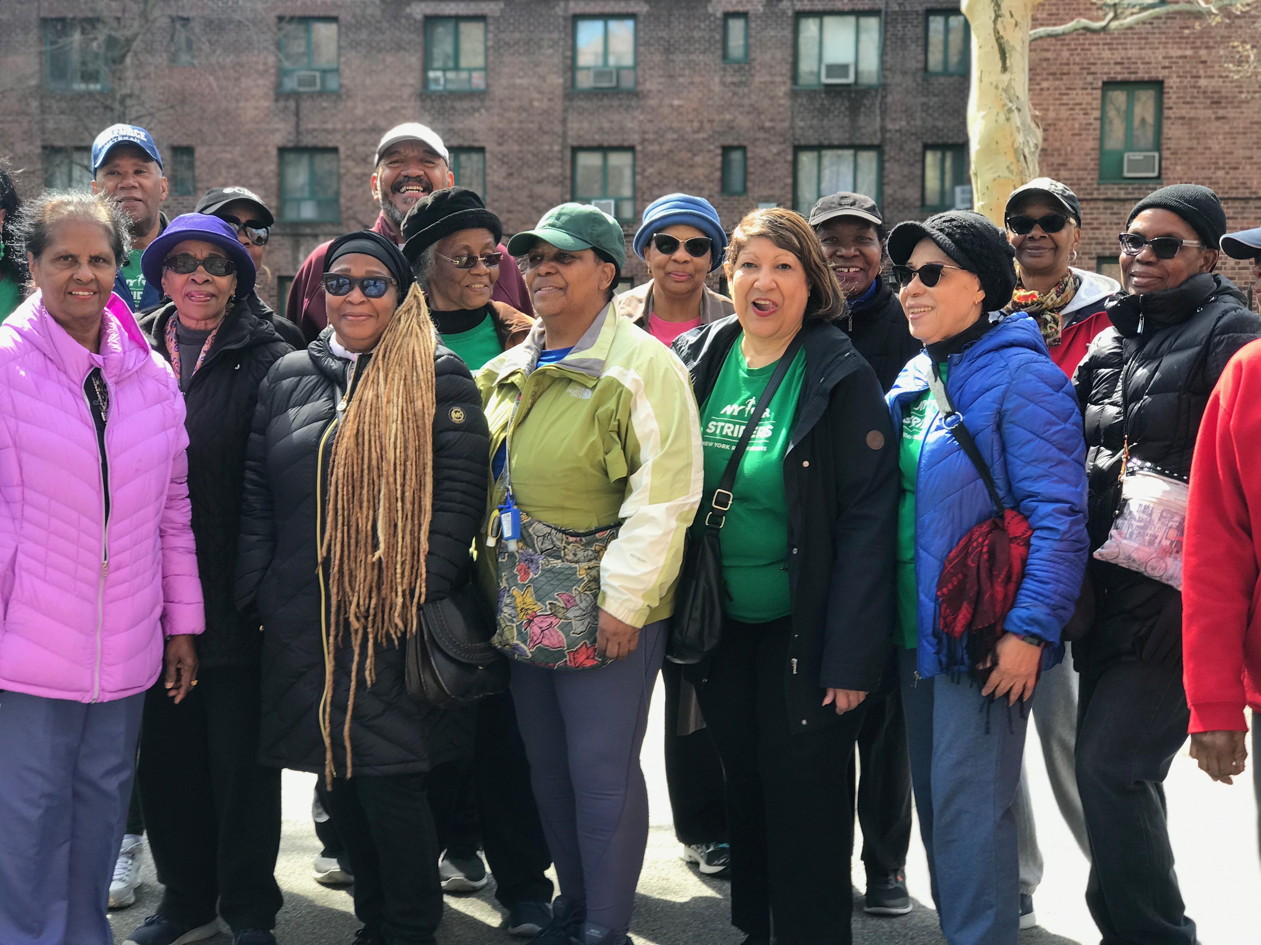 NYRR Striders group from Parkchester, the Bronx