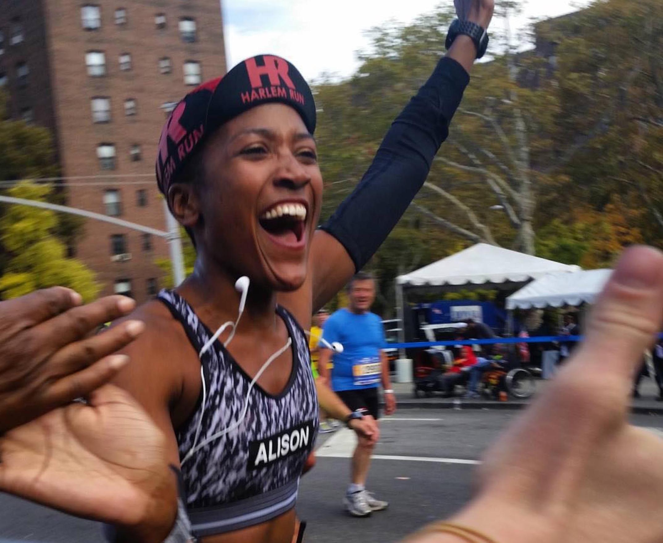 A New York City Marathon runner