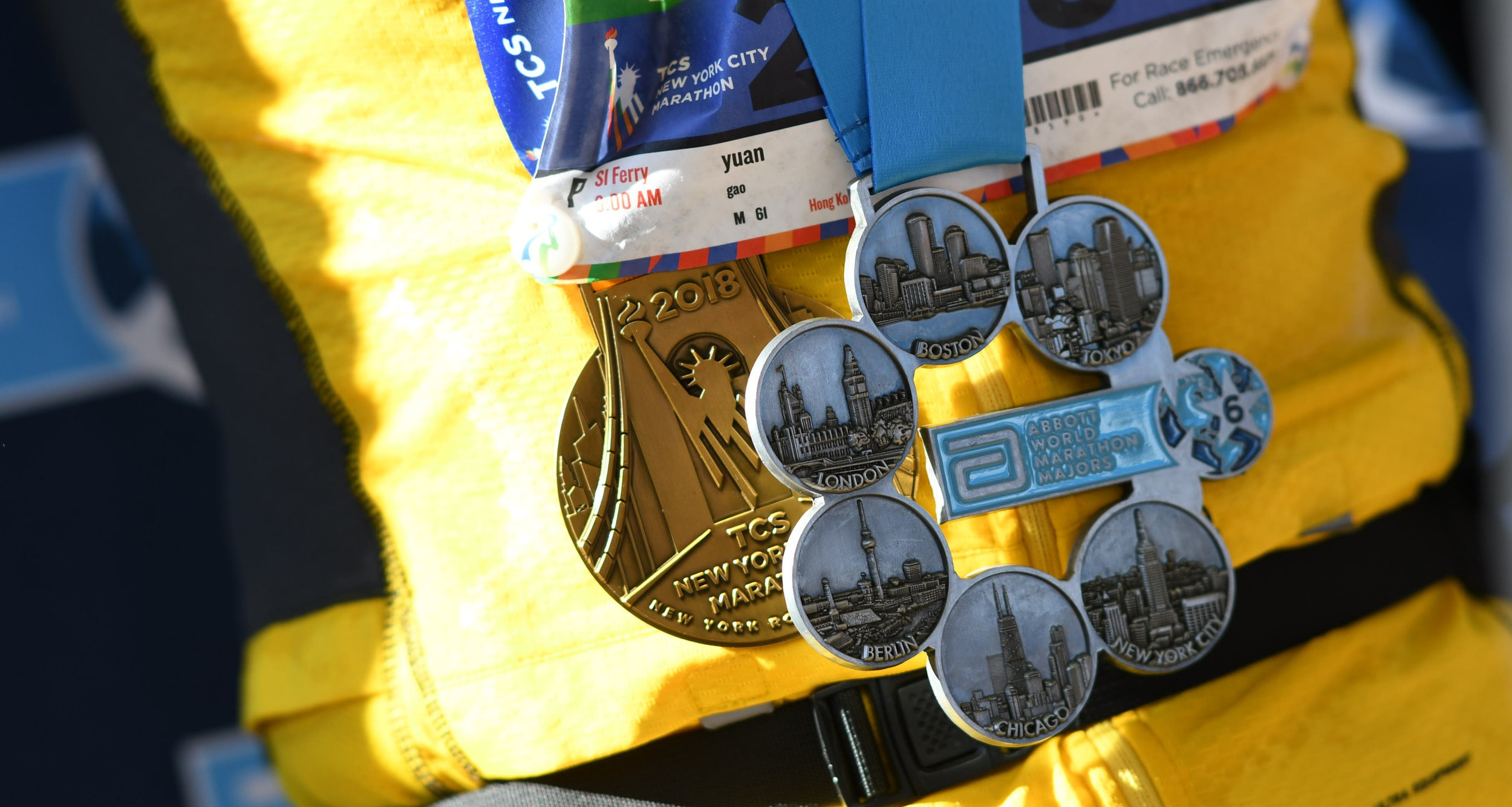 The Abbott World Marathon Majors Six Star Finisher medal