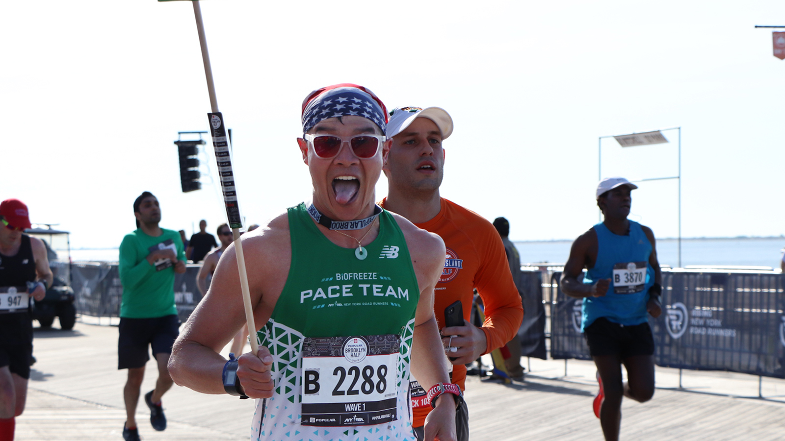 NYRR Pace Team member Brian Hsia