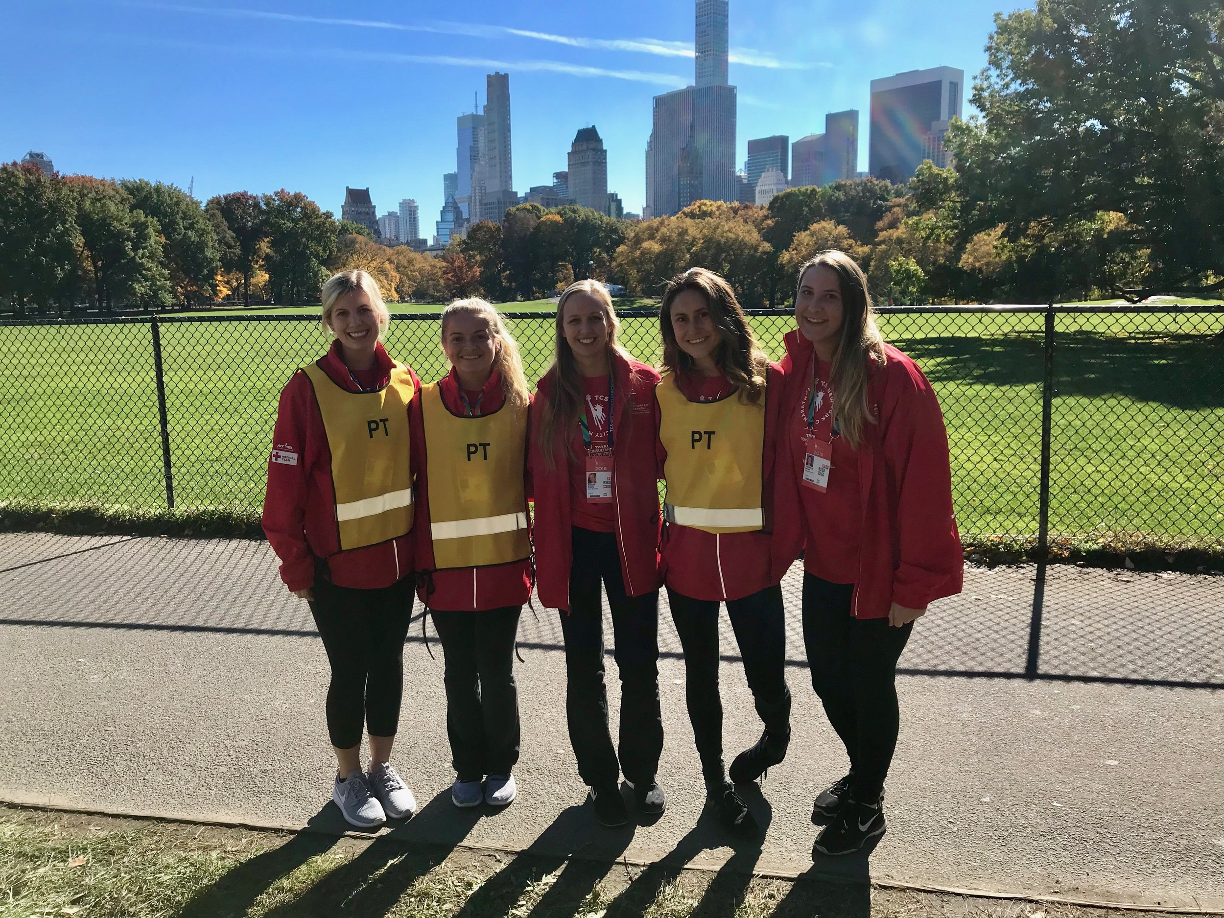 A group of medical volunteers at the 2018 New York City Marathon