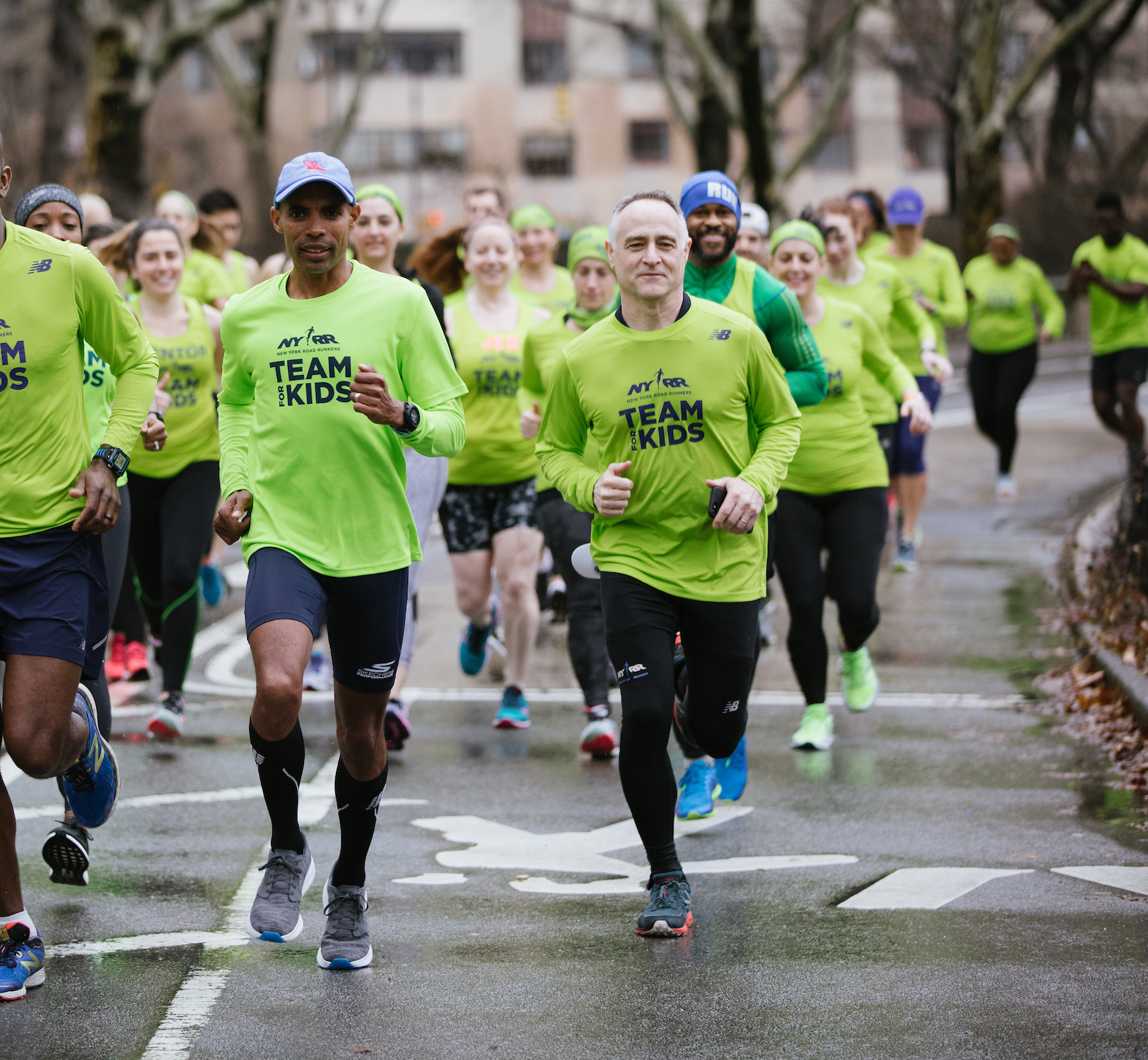 Meb Keflezighi and Michael Capiraso running together