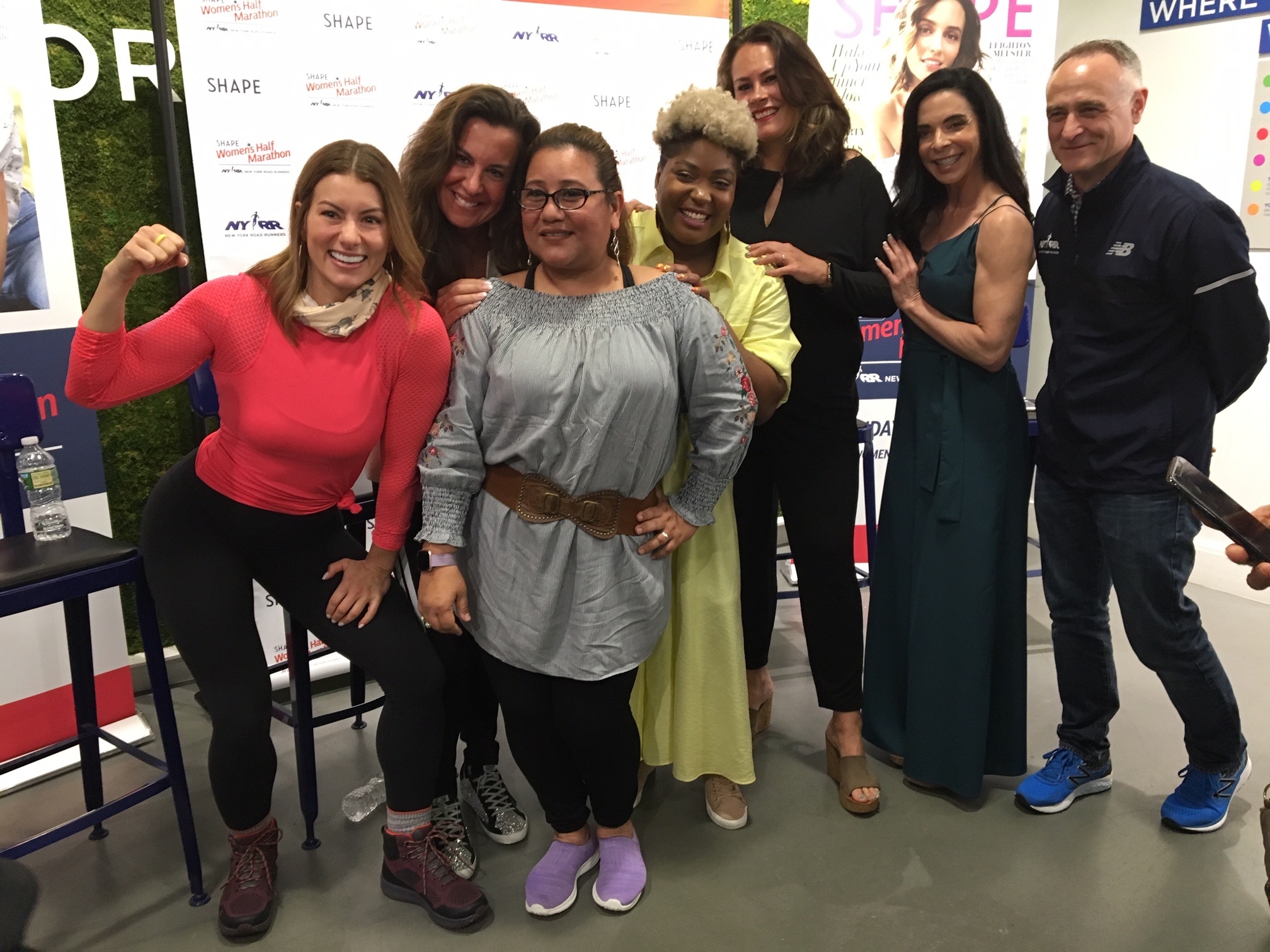 Panelists at the Women Run the World talk at the NYRR RUNCENTER