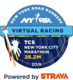 Logo for the TCS New York City Marathon – Virtual 26.2M