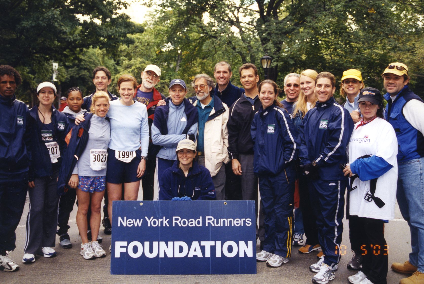 Youth runners in the early days of NYRR youth programs