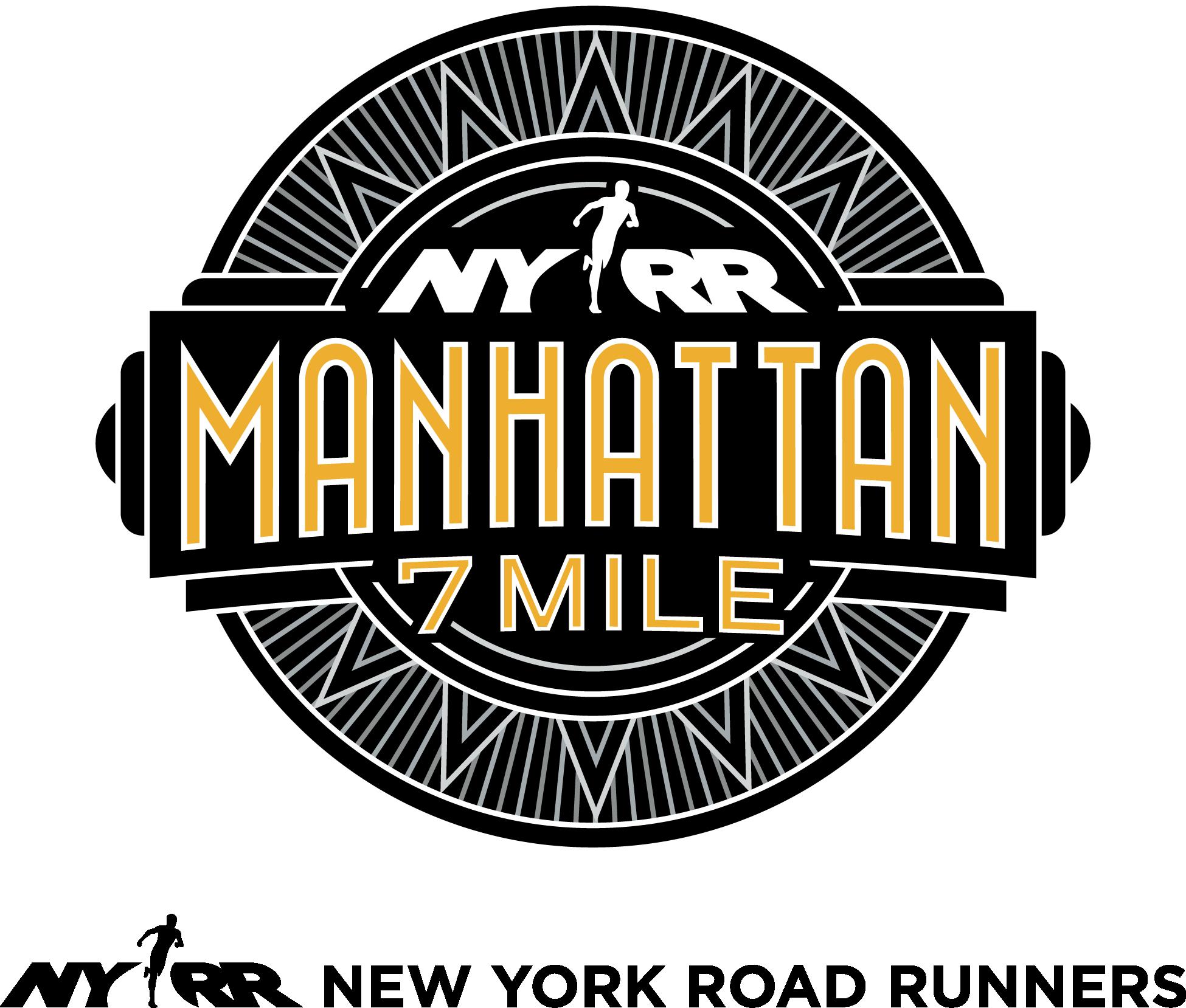 NYRR Manhattan 7 Mile logo