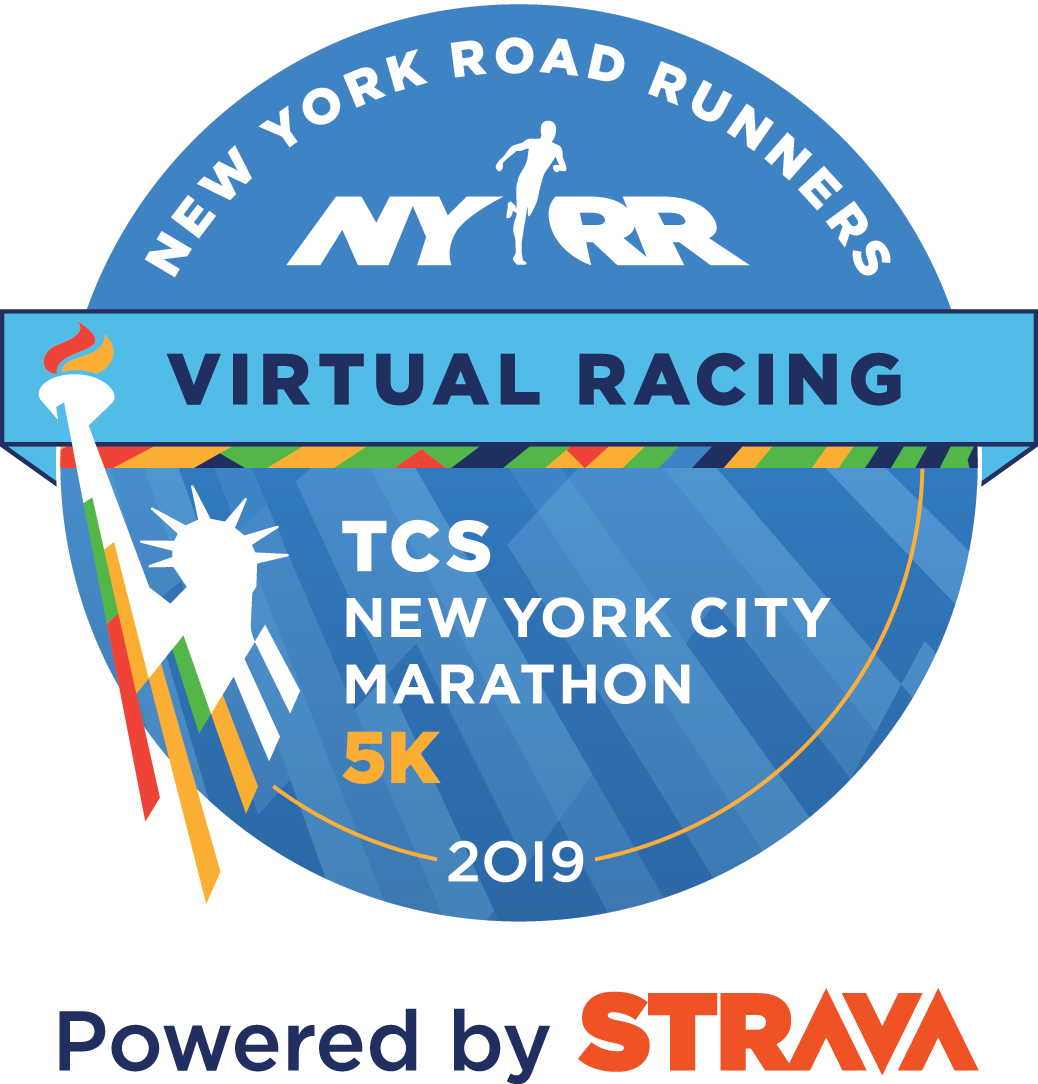 NYRR Virtual TCS New York City Marathon 5K logo