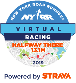 NYRR Virtual Half Way There 13.1 Mile race logo